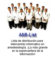 Inscríbete al grupo de anestesiólogos de AMI