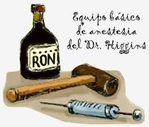 Equipo básico de anestesia del Dr. Luis Higgins